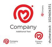 modern line heart logo love... | Shutterstock .eps vector #1024606351