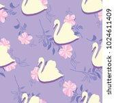 swan lake seamless pattern   Shutterstock . vector #1024611409