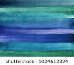 Blue Green Abstract Watercolor...