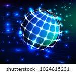 modern globe and galaxy | Shutterstock .eps vector #1024615231