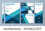 blue corporate identity set... | Shutterstock .eps vector #1024621357