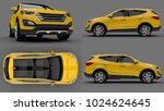 set compact city crossover...   Shutterstock . vector #1024624645