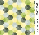 hexagon grid seamless vector... | Shutterstock .eps vector #1024626049