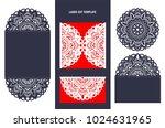 set of wedding invitation or... | Shutterstock .eps vector #1024631965