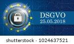 german text dsgvo  translate... | Shutterstock .eps vector #1024637521