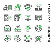smart farm icon set | Shutterstock .eps vector #1024640521