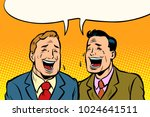 the two friends laugh. comic... | Shutterstock .eps vector #1024641511