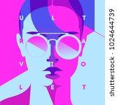 fashion portrait of a model... | Shutterstock .eps vector #1024644739