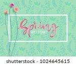 lettering spring welcome.sale... | Shutterstock .eps vector #1024645615