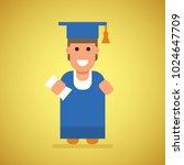 student study book flat... | Shutterstock .eps vector #1024647709