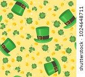 saint patricks day seamless... | Shutterstock .eps vector #1024648711