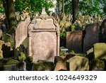 Small photo of PRAGUE, CZECH REPUBLIC - APRIL 09, 2009: Grave of Mordechai Meisel in Prague (1601).Tombstones on Old Jewish Cemetery in the Jewish Quarter in Prague.There are about 12000 tombstones presently visible