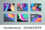 original presentation templates.... | Shutterstock .eps vector #1024652959