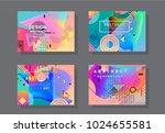 original presentation templates.... | Shutterstock .eps vector #1024655581