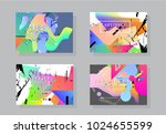 original presentation templates.... | Shutterstock .eps vector #1024655599