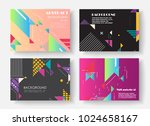 original presentation templates.... | Shutterstock .eps vector #1024658167