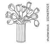 cute cartoon flowers in...   Shutterstock .eps vector #1024659325