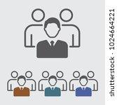 team leader  teamwork vector... | Shutterstock .eps vector #1024664221