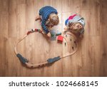 children play with wooden toy ... | Shutterstock . vector #1024668145