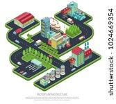 factory infrastructure... | Shutterstock .eps vector #1024669354