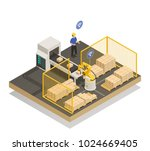 smart industry intelligent... | Shutterstock .eps vector #1024669405