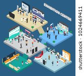 multistory exhibition center... | Shutterstock .eps vector #1024669411