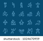 exercise color line icon | Shutterstock .eps vector #1024670959