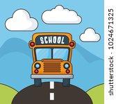 back to school design | Shutterstock .eps vector #1024671325