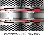 red metal polygon line on... | Shutterstock .eps vector #1024671409