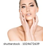 beauty shots of a young woman | Shutterstock . vector #1024672639