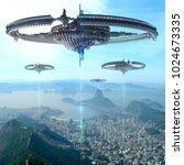 3d illustration of alien...   Shutterstock . vector #1024673335