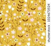 vector seamless pattern of... | Shutterstock .eps vector #1024673524
