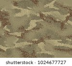 woodland camouflage seamless... | Shutterstock .eps vector #1024677727
