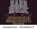 vintage font typeface... | Shutterstock .eps vector #1024685671