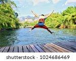 the good moment a man put on...   Shutterstock . vector #1024686469