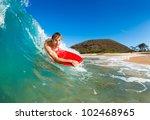 boogie boarder surfing amazing... | Shutterstock . vector #102468965