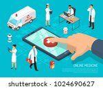 online medical practitioners...   Shutterstock .eps vector #1024690627