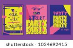 party flyers cards. | Shutterstock .eps vector #1024692415