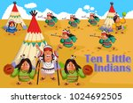 ten little indians  kids... | Shutterstock .eps vector #1024692505