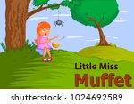 little miss muffet  kids...   Shutterstock .eps vector #1024692589