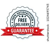 free delivery guarantee label... | Shutterstock .eps vector #1024695745