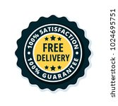 free delivery guarantee label... | Shutterstock .eps vector #1024695751