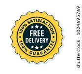 free delivery guarantee label... | Shutterstock .eps vector #1024695769