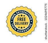 free delivery guarantee label... | Shutterstock .eps vector #1024695775