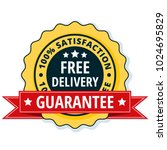 free delivery guarantee label... | Shutterstock .eps vector #1024695829