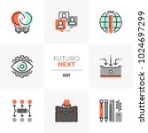 semi flat icons set of business ... | Shutterstock .eps vector #1024697299