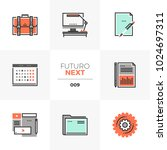 modern flat icons set of... | Shutterstock .eps vector #1024697311
