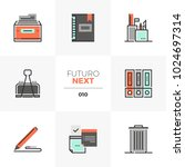 modern flat icons set of office ... | Shutterstock .eps vector #1024697314