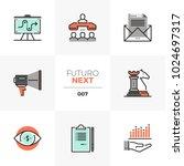 modern flat icons set of market ... | Shutterstock .eps vector #1024697317