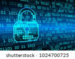 safety concept  closed padlock... | Shutterstock .eps vector #1024700725